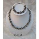 HB-N117 Black Fresh Water Pearl Set