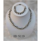 HB-N119 Multi-Colored  Fresh Water Pearl Set