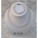 HB-N120 Pink Fresh Water Pearl Set