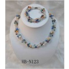 HB-N123 Multi-Colored Designer Fresh Water Pearl Set