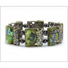 KM-0575 Lt Green shiny Stone Bracelet